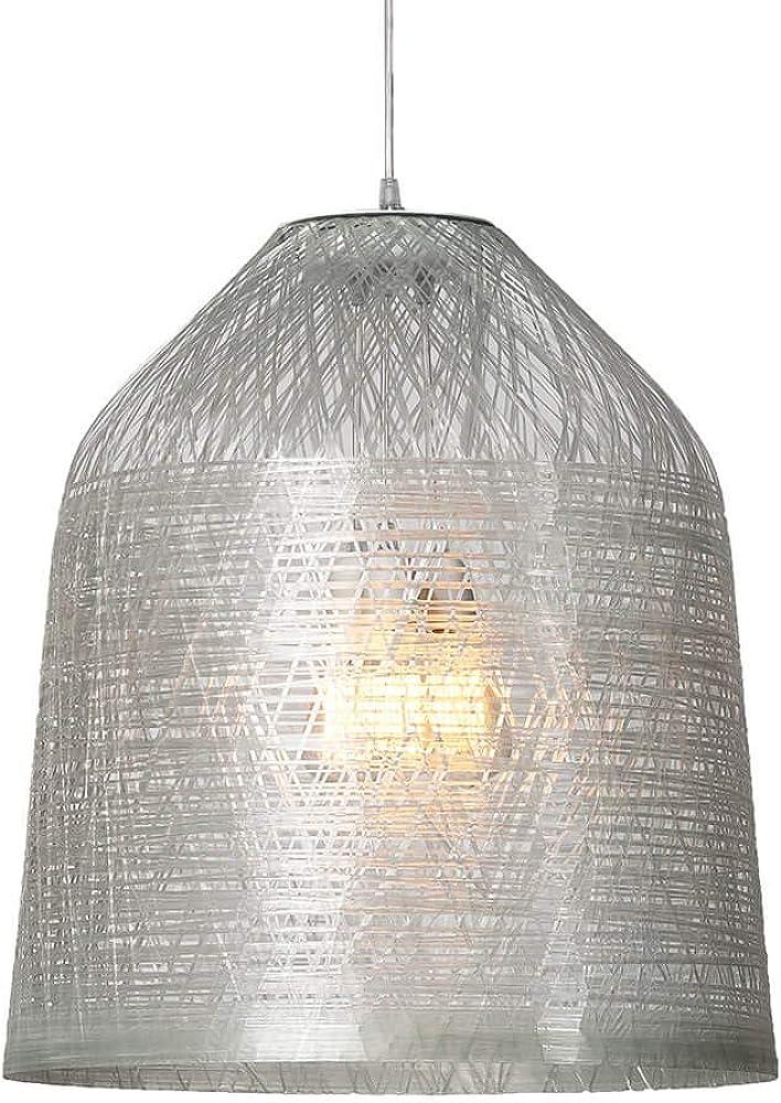 Karman black out ,lampada a sospensione Ø50 cm, con paralume in vetroresina trasparente SE1012T INT