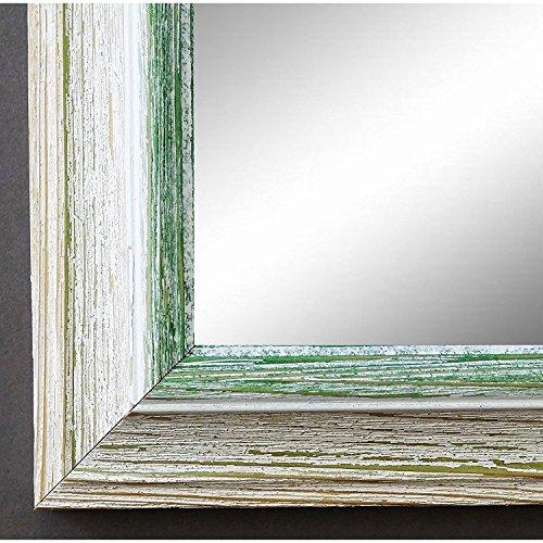 Artecentro Cornice per Quadri Tele - Shabby Chic Bianco-Colore in Legno Varie Misure Offerta (Bianco/Verde, 50x70)