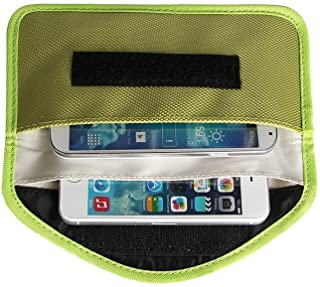 Mengshen Large Faraday Bag, WiFi/GSM/LTE/NFC/RF Signal Blocking Pouch Suitable for Cell Phone, Credit Cards, Car Key, Keyl...