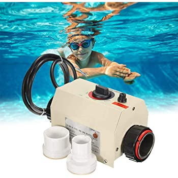 Pool Heater Thermostat 220V 3KW Portable Pool Heaters Electric Water Heater Thermostat Heater Pump for Swimming Pool SPA Bath