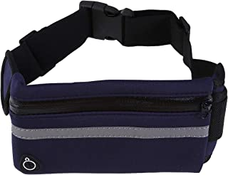 LIOOBO Running Belt Waist Pack Bag Fitness Belt with Adjustable Straps Sport Workout Belt for Runners Athletes Adventurersgg (Sapphire Blue)
