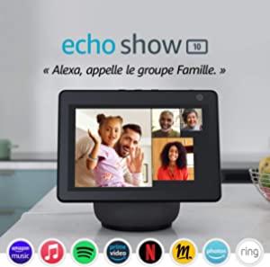 Echo Show 10 (3e génération), Écran connecté HD avec mouvement et Alexa, Anthracite