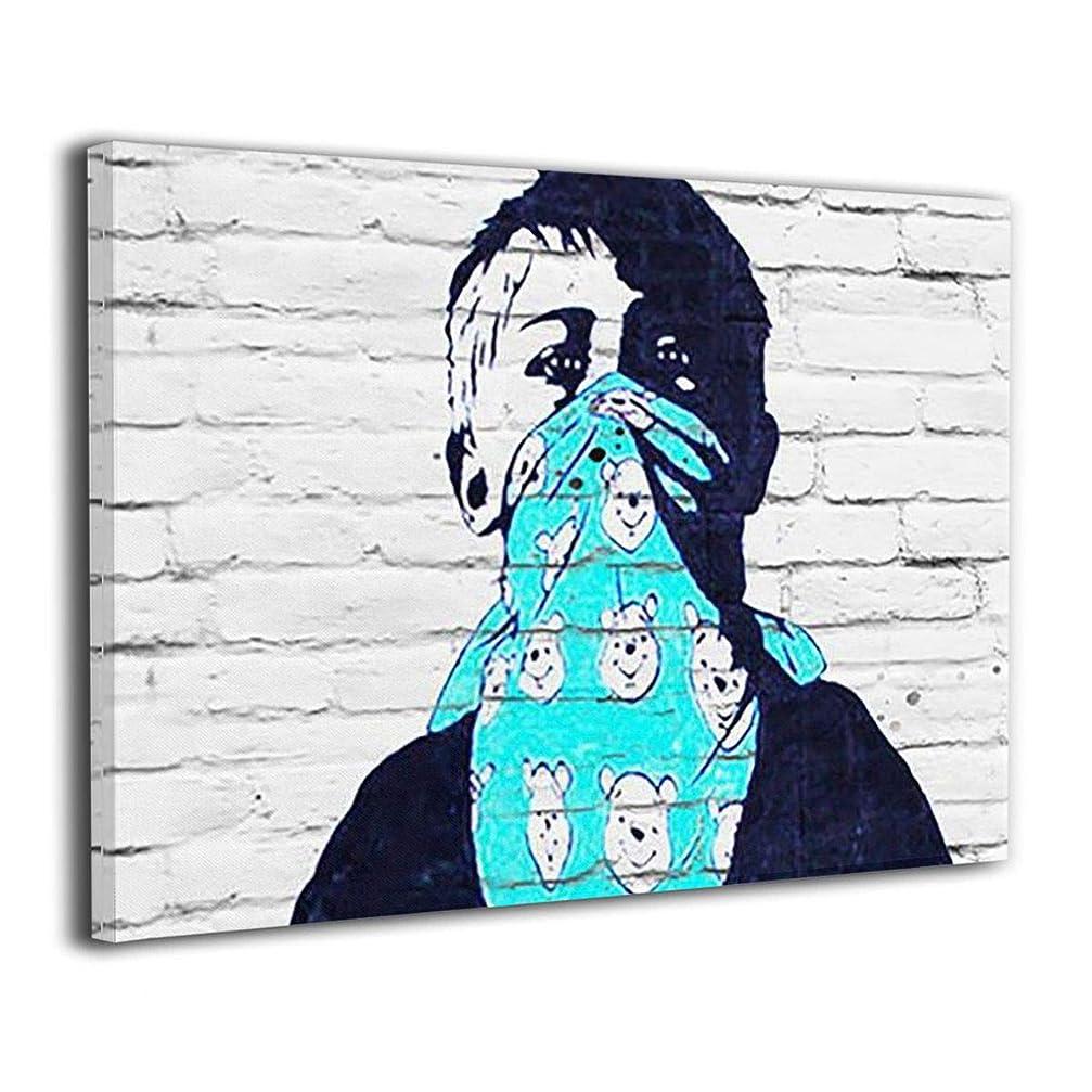 食欲君主櫛Derrick Amanda Banksy バンクシー ストリート アートフレーム ポスター フォートフレーム 壁掛け式の装飾画 壁アート 木製 インテリアアート 部屋飾り ウォールアート モダン