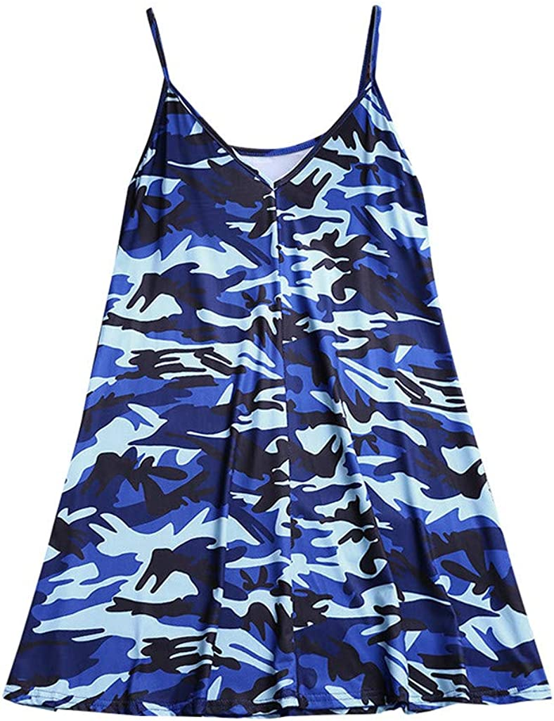 WYTong Women Louisville-Jefferson County Mall Loose Casual Camouflage Tops Camisole Tank store Printed