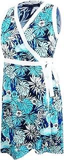 Tommy Hilfiger Womens Polished Floral Print Sleeveless Wrap Dress