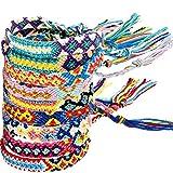 Zhanmai 10 Pezzi Braccialetti Tessuti Fatti a Mano Braccialetti di Amicizia Multi Colore Braccialetto Intrecciato per Polso alla Caviglia