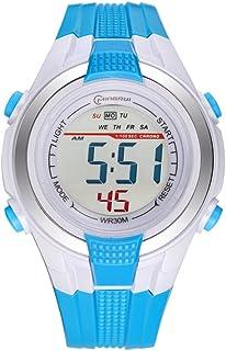 Niño Relojes Electrónicos Niña Multifunción Movimiento Impermeable Watch Estudiante Timing Alarma Watch Goma Correa con He...