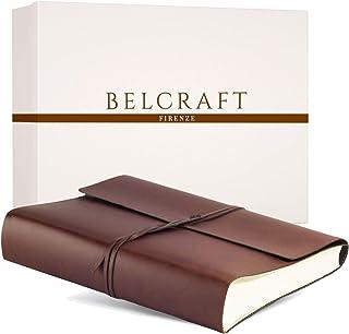 Belcraft Vietri Album Photo en Cuir recyclé de Fabrication Artisanale Italienne, A4 (23x30 cm) Brun