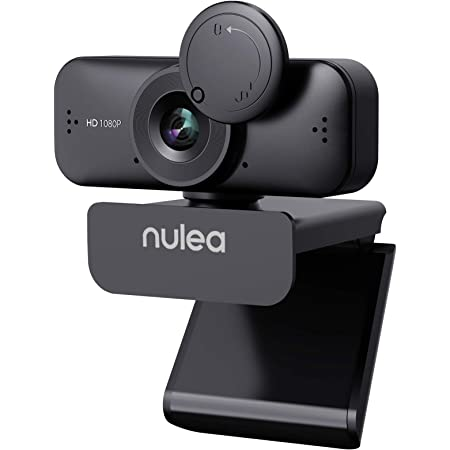 HD Webcam 1080P with Microphone for PC/Laptop Camera, Computer USB Camera with Privacy Cover for Video Calling, Online Classes, Conference, Works with skype, Zoom, Facetime