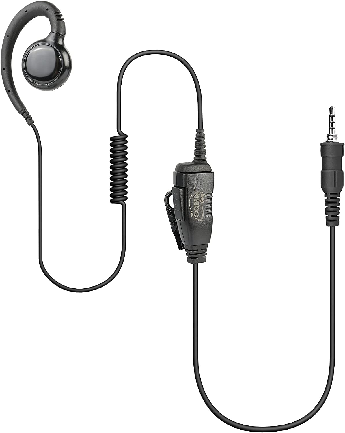 The Comm Guys Tulsa Mall 1-Wire Swivel Loop Earpiece Headset Compa Easy-to-use Mic and