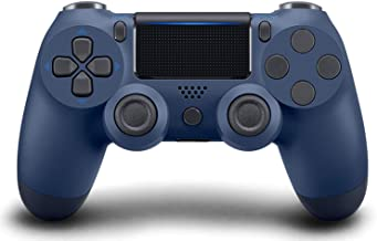 Best Wireless Controller for PS4, Gaming Controller for Pc Gamepad Joystick for Playstation 4/Pro/Slim Console with Dual Vibration shock/6-axis Gyro Sensor/Audio Function( Midnight blue ) Review