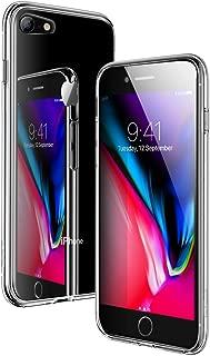 ESR iPhone8 ケース / iPhone7 ケース ガラスケース 強化ガラス 耐衝撃 すり傷防止 全面保護 TPUバンパー 指紋防止 ネイキッド スマホケース(クリア)