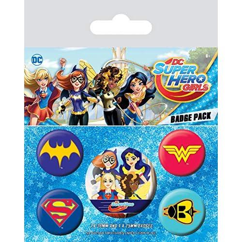 DC Comics BP80577 - Spilla, 10 x 12,5 cm, multicolore