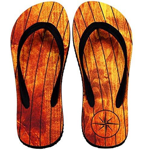 Palupas Bootsschuhe für Herren in braun mit Motiv Teak Deck - Segelschuhe inkl. Schuhbeutel