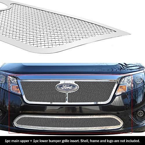 APS Compatible with 2010-2012 Fusion Stainless Steel mesh Grille Grill Combo...