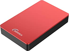 Sonnics - Disco Duro Externo para Ordenador de sobremesa (USB 3.0, Compatible con Windows PC, Mac, Smart TV, Xbox One y PS4) Rosso 2 TB