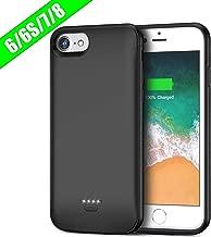 FLYLINKTECH Funda Bateria para iPhone 6/6s/7/8, 6000mAh Batería Cargador Externa para iPhone 6/6s/7/8 4,7'' Recargable Backup Charger Case Portátil Power Bank Case (Negro)