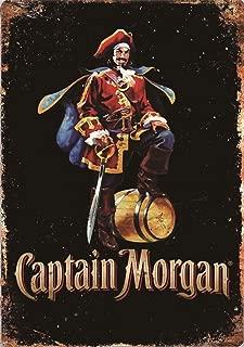 JTY store Cartel de decoración de Arte de Pared Vintage Captain Morgan Vintage Metal Home Bar Pub Club Cafe Man Cave Decor 20CM X 30CM Metal Tin Sign WJ1404