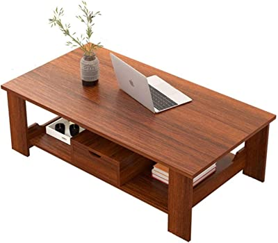 Upgraded Furniture Coffee Table Cocktail TV Table Sofa Table Easy Assembly Wood Look Furniture Coffee Table with Storage Shelf for Living Room Smal