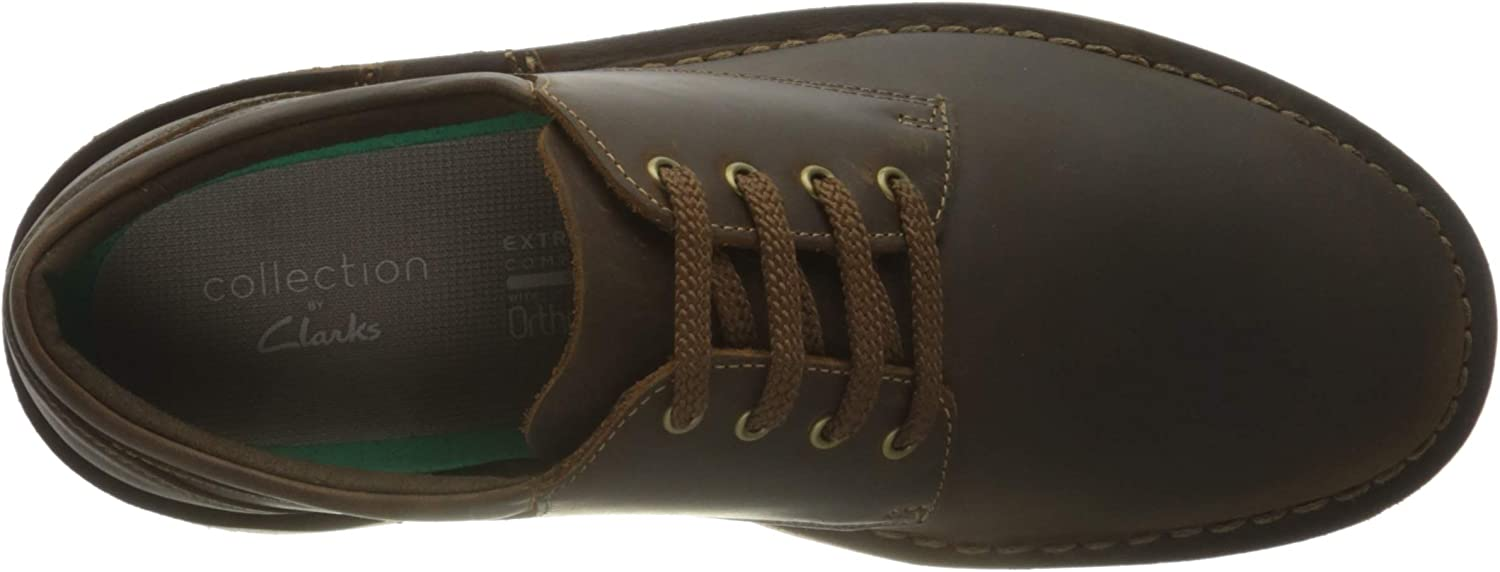 Clarks Men's Bushacre 3 Lo Oxford Flat, Beeswax