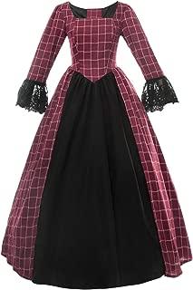 Women Civil War Victorian Dress Costume American Pioneer Colonial Prairie Dress