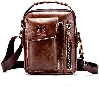 Genuine Leather Men's Crossbody Bag Vintage Cow Leather Man Messenger Bags Small Shoulder Bag for Male Casual Handbag Leat...