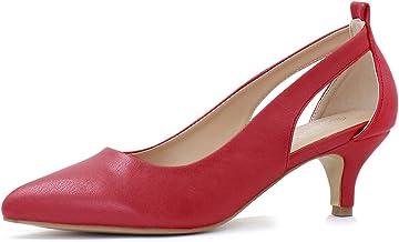 minorista online 786de c97e5 Amazon.es: zapatos tacon bajo - Rojo