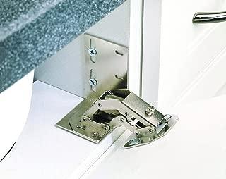 Rev-A-Shelf 6552-ETH-10 Euro Face Frame Tip-Out Tray Hinge, Chrome