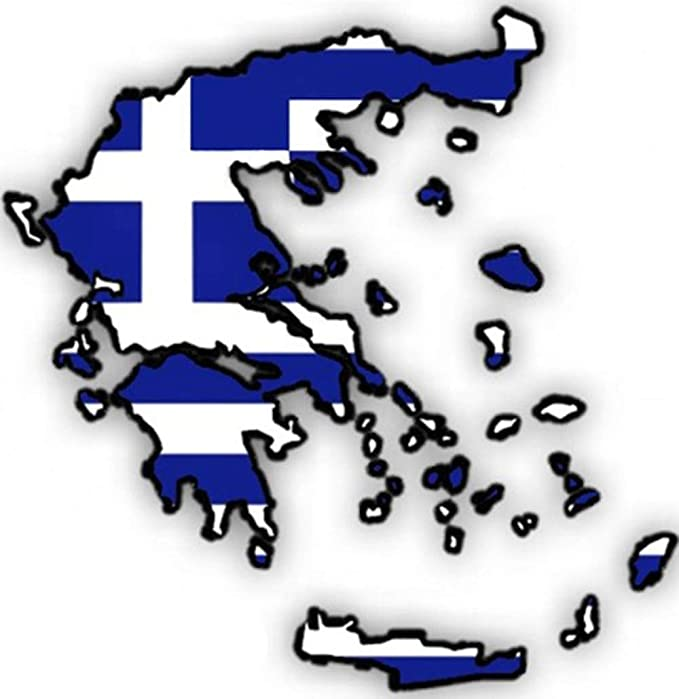 Auto Aufkleber Car Sticker Hellas Griechenland Greece Grece Grecia Konturgeschnitten Ca 11x11 Cm Auto
