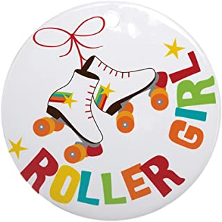 CafePress Roller Skate Girl Round Holiday Christmas Ornament