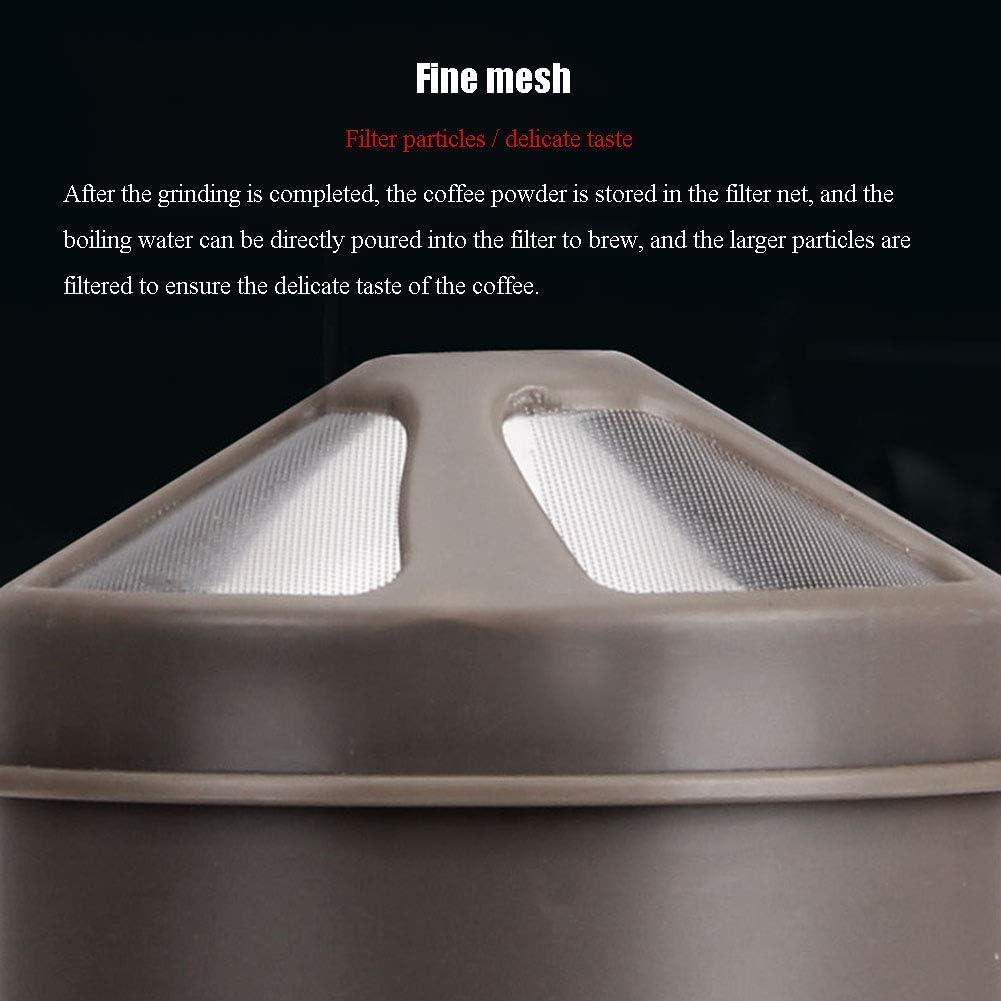 NLRHH Machine à café Petit électroménager Portable café rectifieuse Coupe Grinders Rechargeable Automatique Machine à café, Rouge Peng (Color : White) White