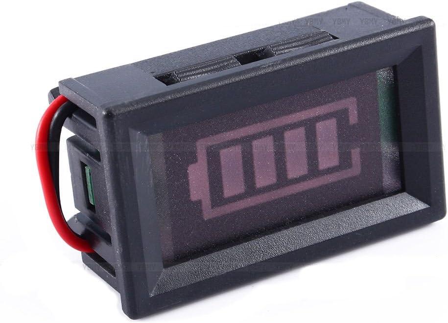 Yosoo 2 pcs 12V Lead Acid Battery Indicator Intuitive Acid Battery Capacity Tester Voltage Display LED Display