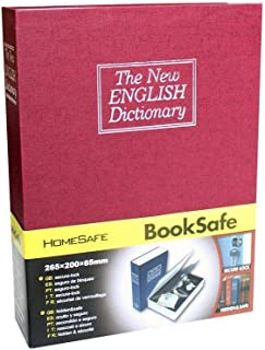 Safe Lock Box Dictionary Diversion Book Safe with Combination Lock Safe Security Cash Money Box