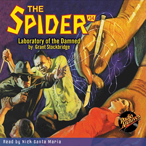 Spider #34, July 1936 audiobook cover art