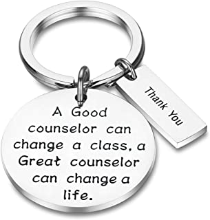 AKTAP Counselor Gifts School Counselor Keychain A Good Counselor Can Change A Class A Great Counselor Can Change A Life Thank You Key Chain Gifts for Teacher Counselor