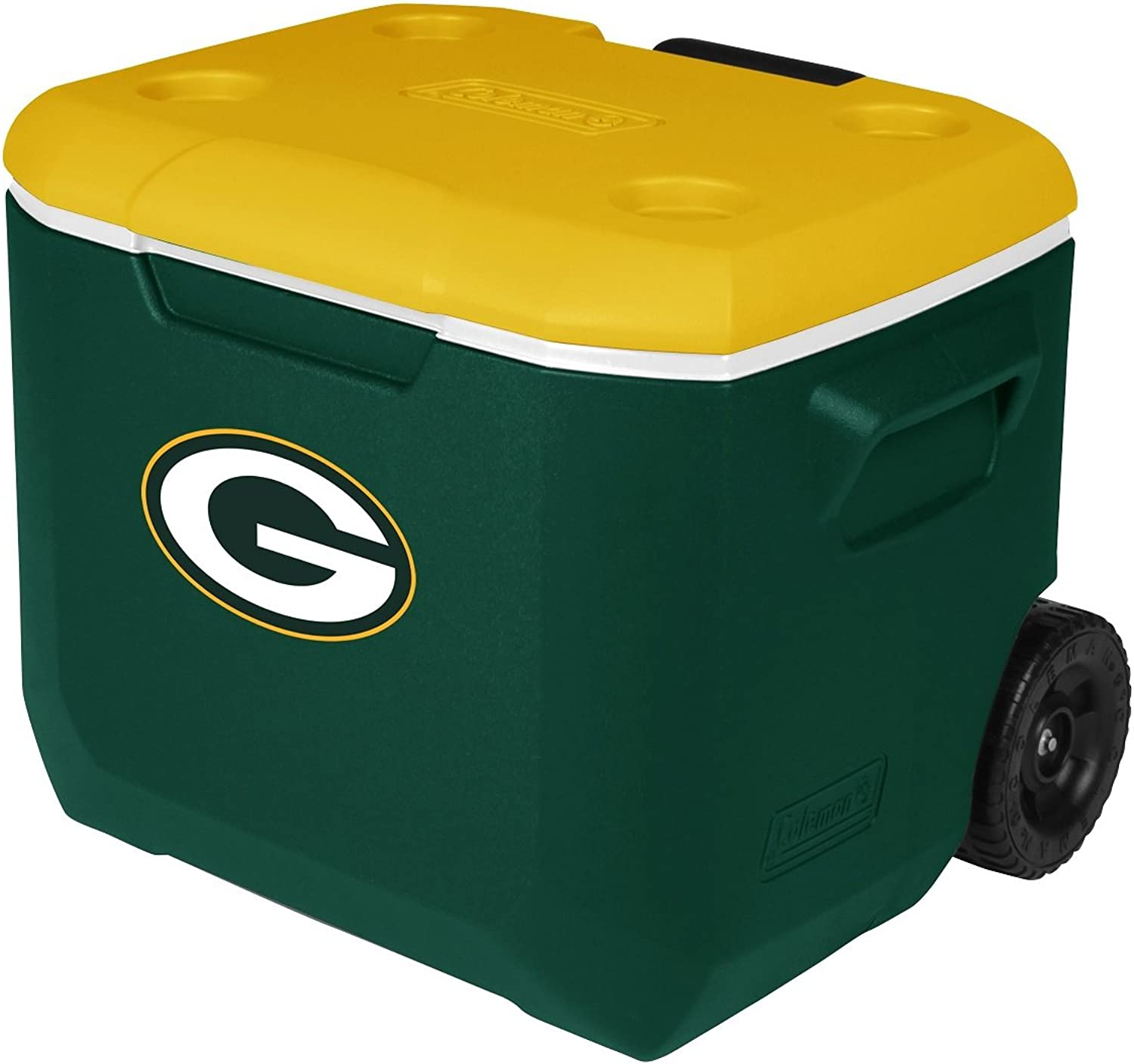 Coleman Company NFL Green Bay Packers Performance Cooler, 60 quart, Green Yellow