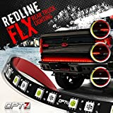 OPT7 48' Redline Flexible LED Tailgate Light Bar - TriCore LED - Weatherproof No-Drill Install Full Featured Reverse Brake Running w/RED Turn Signal 2yr Warranty