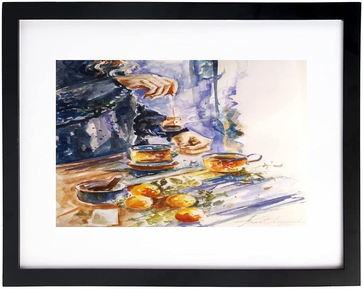 Wall Art Print Tea and Outlet sale feature Farmhouse Painting Max 70% OFF Watercolor Citrus