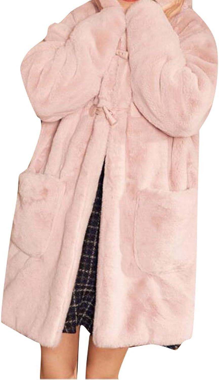 Fensajomon Womens Winter Cute Bear Ear Long Sleeve Hood Thick Cardigan Jacket Outwear