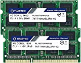 Timetec Hynix IC 8GB Kit (2x4GB) DDR3L 1600MHz PC3-12800 Unbuffered Non-ECC 1.35V CL11 2Rx8 Dual Rank 204 Pin SODIMM Portatil Memoria Principal Module Upgrade (8GB Kit (2x4GB))