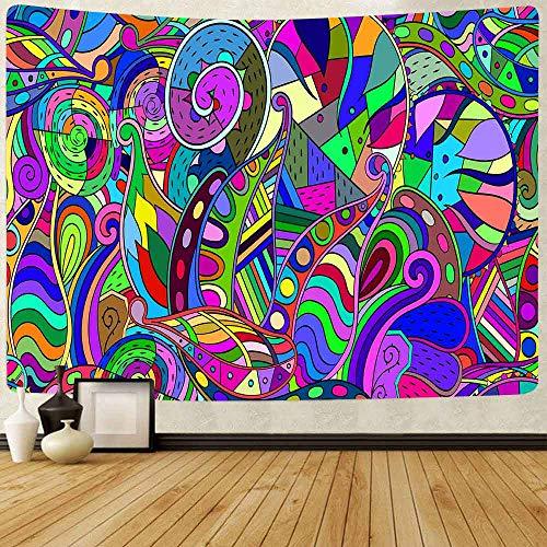 AJleil Puzzle 1000 Piezas Pintura Decorativa Flor psicodélica Abstracta Hippie Puzzle 1000 Piezas Educativo Divertido Juego Familiar para niños adultos50x75cm(20x30inch)