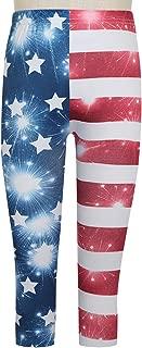 Fireworks Flag Seamless Capri Girls Legging