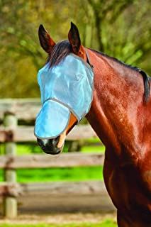 SAXON Buzz Away Fly MASK with Nose Horse Rug
