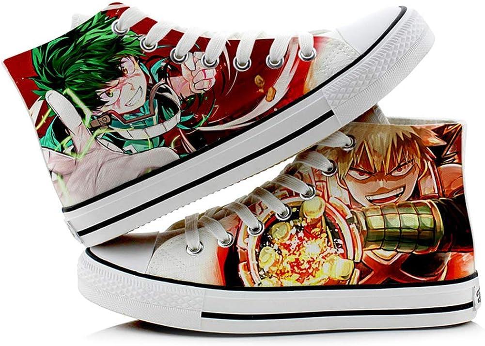 Deku Shoe Boku no Hero Academia Anime Manga Mens Women/'s Fashion Sneakers Canvas Shoes High Top Lace-up Classic Casual Flat Walking Shoes Cool Funny Shoes By MIRNATEE Brand 23