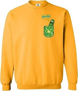 Qasimoff New Graphic Tee Shirt Pickle Rick in a Pocket Funny Unisex Sweatshirt Crewneck Sweater
