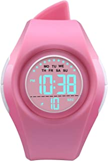 Kids Digital Sport Watch Outdoor Waterproof Watch LED Alarm Stopwatch Child Wristwatch,Toddler Child Watch for Age 3-10Wrist Boys, Girls
