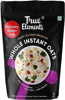 True Elements Instant Oats 3kg - Fibre Rich, Whole Grain Oats, Cereal for Breakfast, Plain Oats for Weight Loss