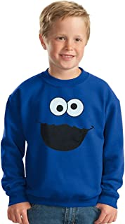 Animation Shops Cookie Monster Face Toddler Sweatshirt