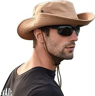 Sombrero para el Sol para Hombres Sombrero para el Sol de ala Ancha Mezcla de Malla y Sombrero para el Sombrero Gorra saliente Aleta de protección Solar UV Sombrero de Playa Transpirable