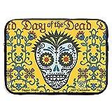Funda Protectora con Calendario de Pared del Día de los Muertos 2017 Calaveras de azúcar para computadora portátil, Tableta